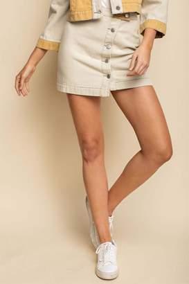 Gilli Colorblock Mini Skirt
