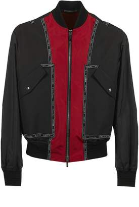 Christian Dior Logo Print Bomber Jacket