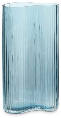 Oliver Bonas Petitine Tall Blue Glass Vase