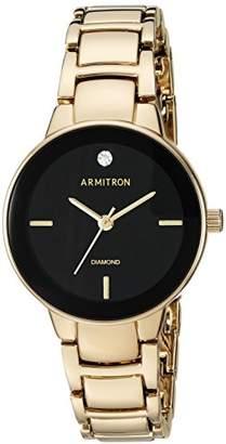 Armitron Women's 75/5594BKGP Diamond-Accented -Tone Bracelet Watch