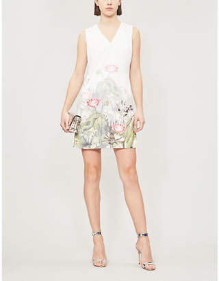 Ted Baker Staycy wonderland-print crepe dress