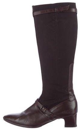 Balenciaga Balenciaga Leather Knee-High Boots