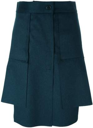 Vivienne Westwood asymmetric pleated short skirt