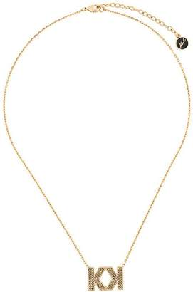 Karl Lagerfeld Double K necklace
