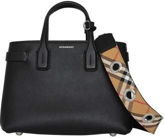 Burberry The Small Banner in Grainy Leather