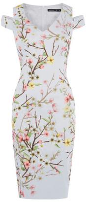 Karen Millen Blossom Print Pencil Dress