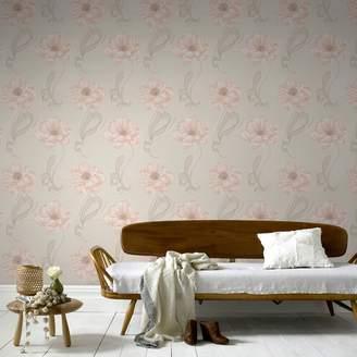 Graham & Brown Boutique - Peach Sofia Wallpaper