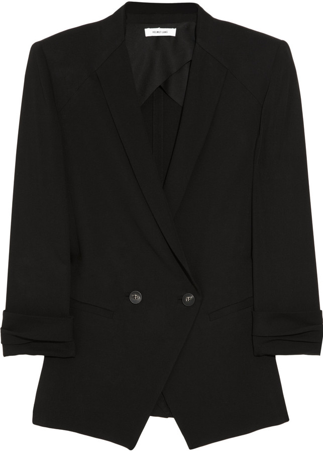 Helmut Lang Silica double-breasted crepe blazer