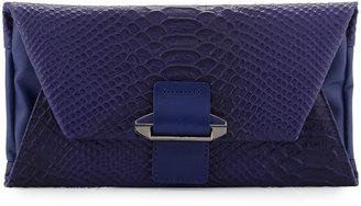 Kooba Ruby Leather Cobra Crossbody Wallet, Cobalt $110 thestylecure.com