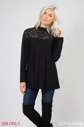 Simply Noelle Lace Overlay Top