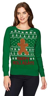 Hybrid Apparel Wome's Happy Velcro Holiday Sweater