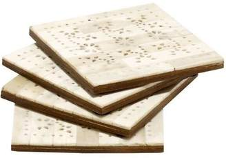 Mela Artisans Upcycled Bone Coasters (Set of 4)