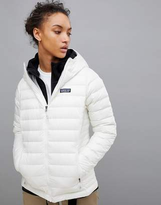 Patagonia Down Sweater Hoody Jacket In White