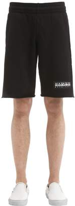 Napapijri Logo Patch Cotton Sweat Shorts