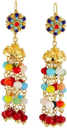 Jose & Maria Barrera Glass-Bead Tassel Earrings