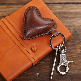 Life of Riley Leather Heart Key Ring