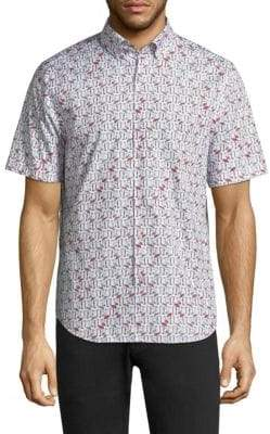 Vilebrequin Flamingo Cotton Button-Down Shirt