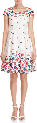 Yumi Graduated Retro Flower Print Dress