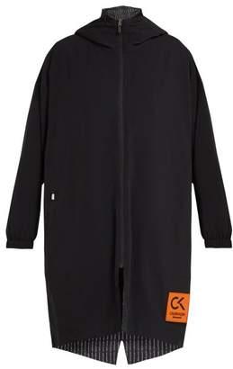 Calvin Klein Performance - Reversible Logo Print Hooded Parka Jacket - Womens - Black