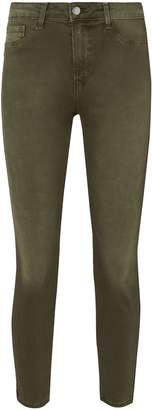 L'Agence Margot Army High-Rise Ankle Skinny Jeans