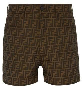 Fendi Ff Jacquard Shorts - Mens - Brown Multi