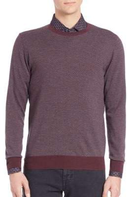 Merino Wool Brick Pattern Sweater