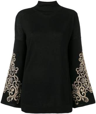 Snobby Sheep embroidered sleeved sweater