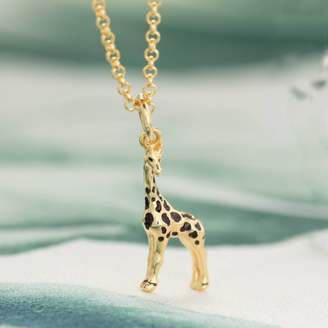1ff5da4a15b Lily Charmed Children s Personalised Gold Plated Giraffe Necklace