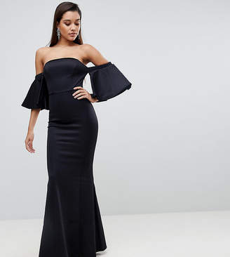 Lipsy Bardot Flueted Sleeve Maxi Dress