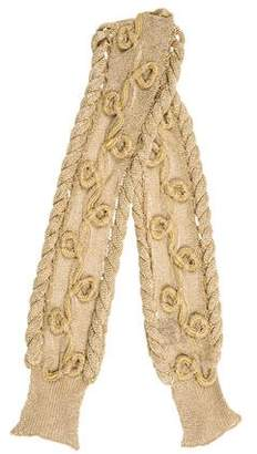 Burberry Metallic Braided Scarf