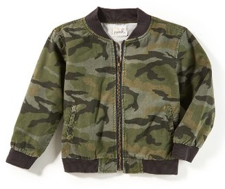 Boy's Peek Camo Bomber Jacket $58 thestylecure.com