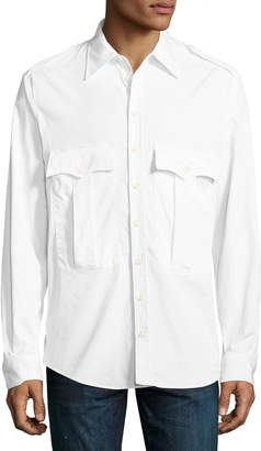 DSQUARED2 Double-Pocket Military-Style Shirt