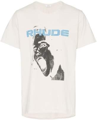 Rhude logo slogan print T-shirt