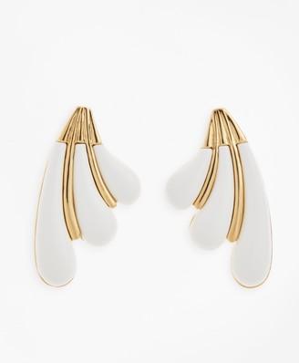 Brooks Brothers Enameled Petal Earrings