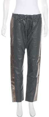 Les Chiffoniers Leather High-Rise Pants w/ Tags