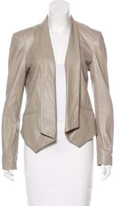 Rebecca Minkoff Leather Shawl-Collar Jacket