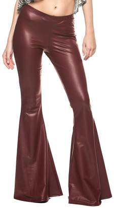 Glam Rock Rogue Finery Women's Vintage 70s and Roll Indie Wide Leg Flared Bell Bottom Pants