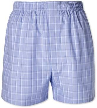 Charles Tyrwhitt Blue Check Woven Boxers Size XXL