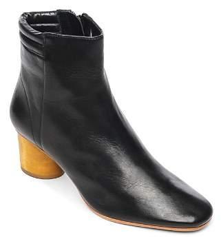 Bernardo Izzy Wood-Heel Leather Booties