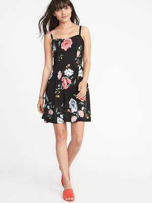 Old Navy Floral Fit & Flare Cami Dress for Women
