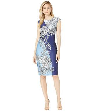 Vince Camuto Scuba Dress with Floral Print
