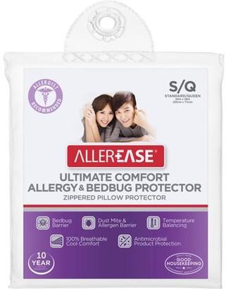 Aller-Ease AllerEase Ultimate Comfort Allergy & Bedbug Zippered Pillow Protector, S/Q