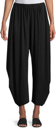 Issey Miyake Dropped-Inseam Cropped Jersey Pants