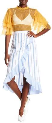 Romeo & Juliet Couture Striped Faux Wrap Skirt