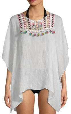 Embroidery Hi-Lo Cover-Up