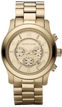 Michael Kors Golden Oversized Runway Watch