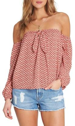 Billabong Forever Lover Off the Shoulder Top