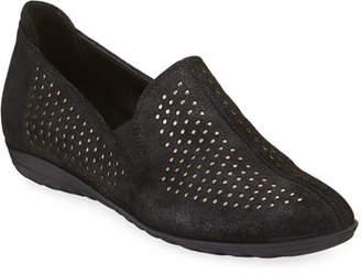 Sesto Meucci Bain Casual Perforated Flats, Black