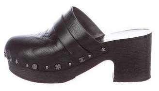 Chanel Lucky Charm Platform Clogs