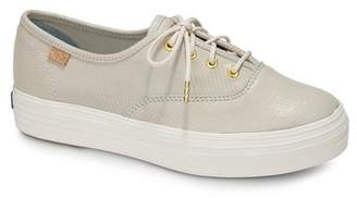 Keds Triple Kick Snake Embossed Leather Platform Sneaker